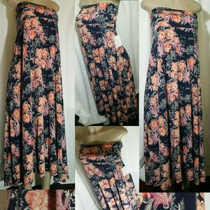LULAROE Maxi Dress Floral Print, Strapless…